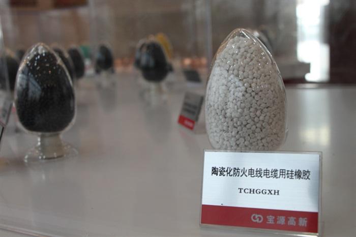陶瓷化妨火电线电缆用硅橡胶